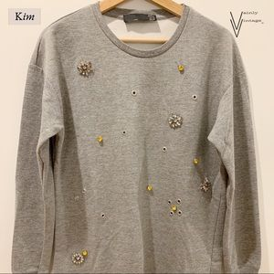 Zara Jeweled Sweatshirt